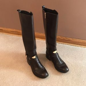 Michael Kors Arley Riding Boot Dark Chocolate
